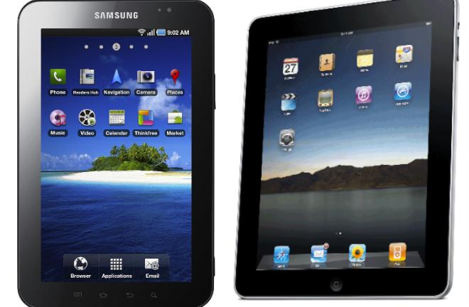 Tablets de Samsung y Apple