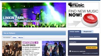 Montaje con logo nuevo de MySpace