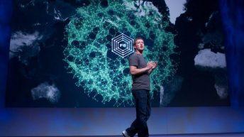Mark Zuckerberg presentando la evolución de Facebook. Imagen: pazca (via Flickr).