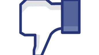 Botón de no me gusta, Facebook