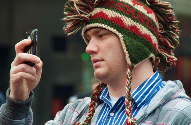 Usando un móvil