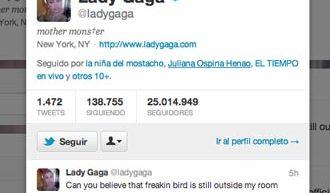 Lady Gaga llega a 25 millones de seguidores