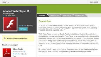 Adobe Flash Player para Android