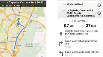 Google Maps en Bogotá