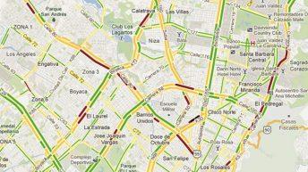 Tráfico en Bogotá Google Maps