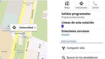 Metro de Medellín en Google Maps