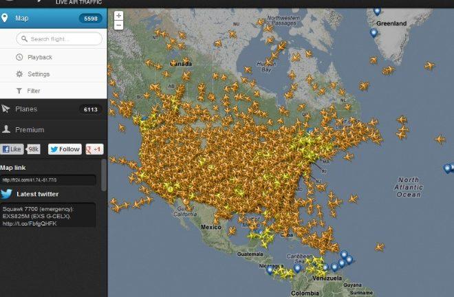 Siga Los Aviones En Cielo En Este Sitio Web Enter Co