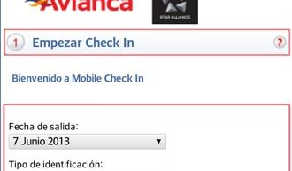 Check In móvil de Avianca