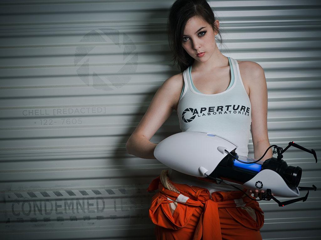 'Chell' de 'Portal 2'. Imagen: Monika Lee