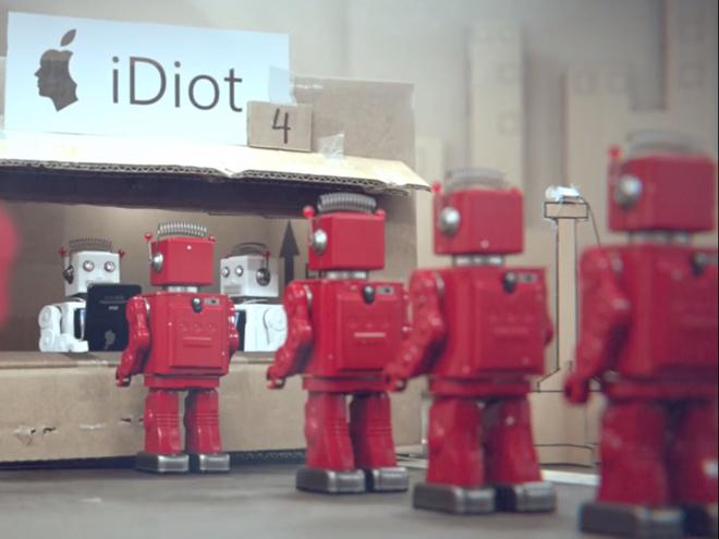 Un iDiot en acción. Foto: Big Lazy Robot (vía Vimeo)