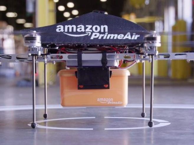 Los drones están listos pero no tienen el 'ok' para despegar. Imagen: Amazon