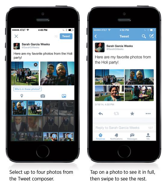 Así se pueden ver las cuatro fotos en un solo tuit.