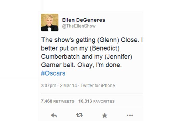 Este es el primer tweet del día de la ceremonia.