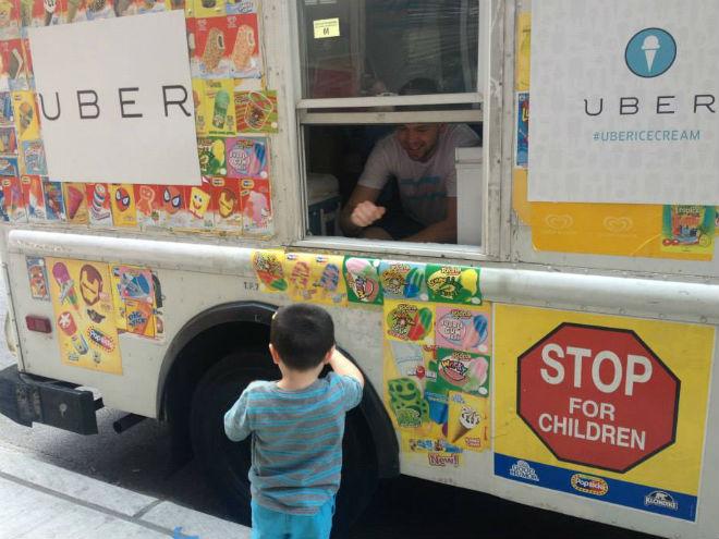 Llegaron los helados de Uber