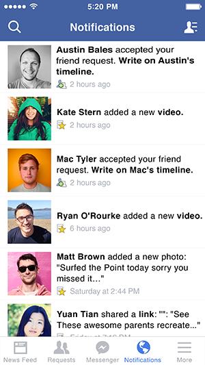 El atajo para Facebook Messenger te lleva directamente a la app.
