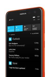 Action Center llegará a los equipos Nokia con la actualización Lumia Cyan.