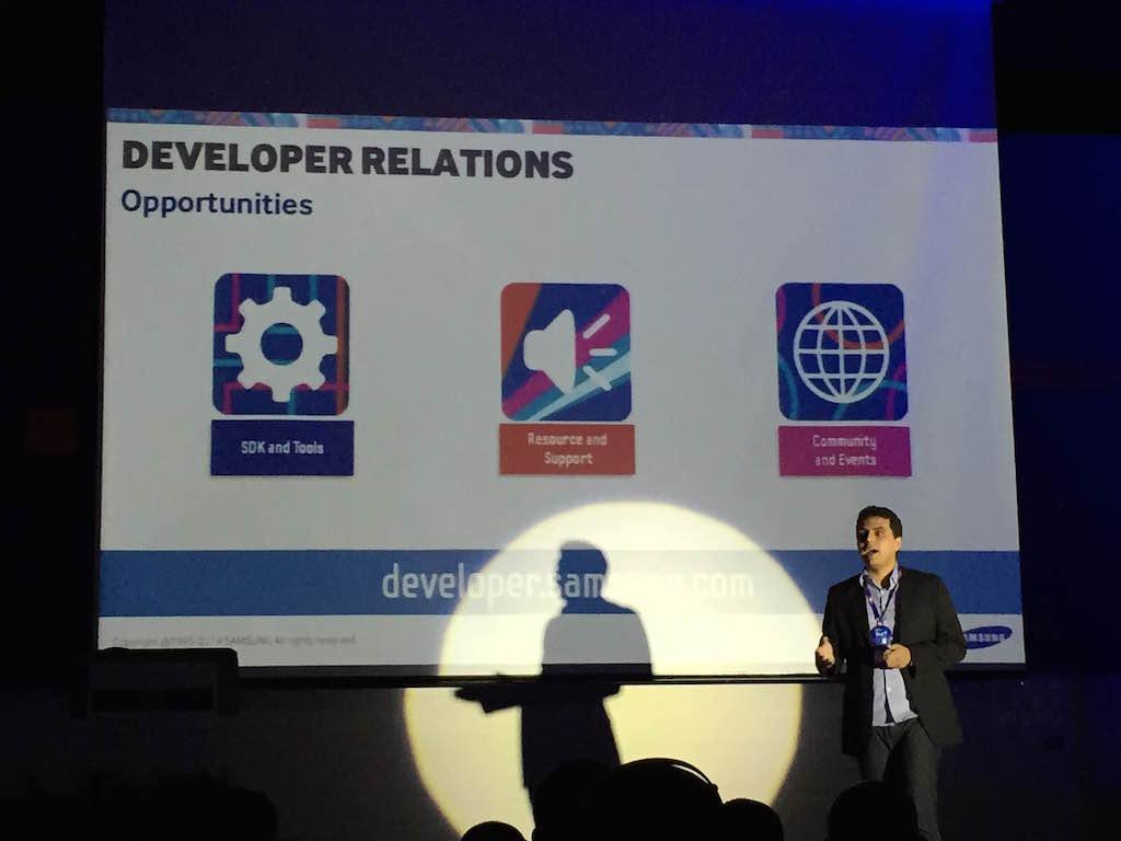 Allan Bezerra del Media Solution Center Latinoamérica, en el Samsung Developer Day 2014.