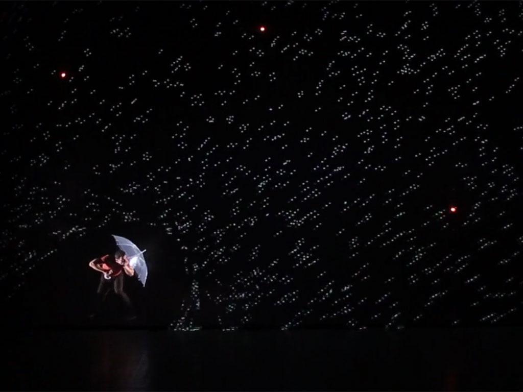 pixel: baile con proyección