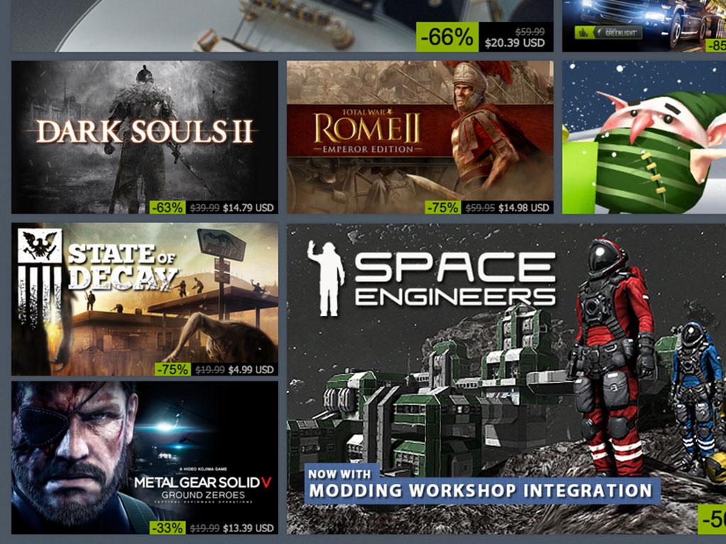 ofertas de invierno en Steam.