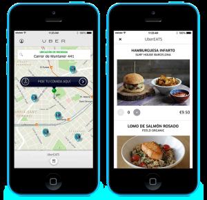 UberEATS para pedir comida a domicilio.