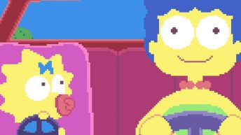 couch gag de los simpsons en 8-bit
