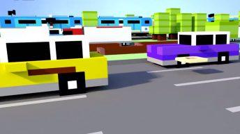 crossy road en primera persona