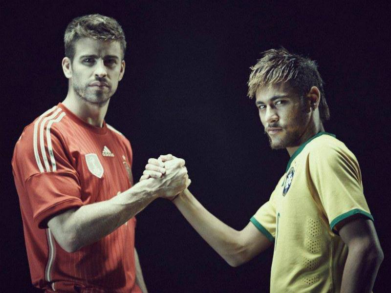 Gerard Piqué y Neymar Jr., un par de cracks del Barcelona.