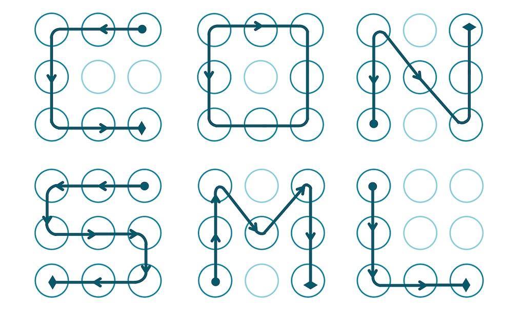 Uno de los patrones de desbloqueo más comunes es una letra.