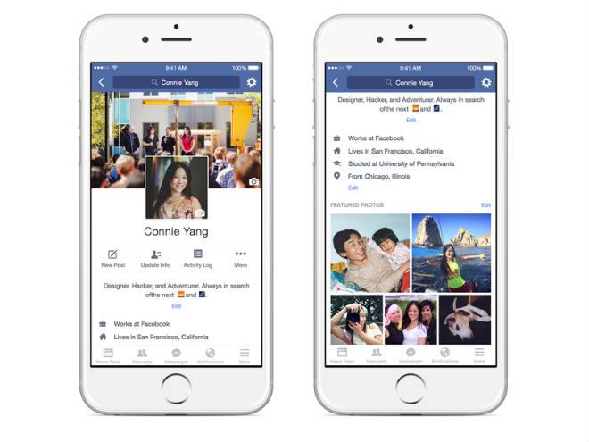 Facebook cambiaría su diseño en móviles.