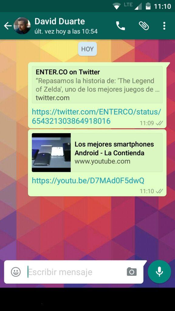 Con WhatsApp para Android podrás saber con antelación qué hay detrás de un link.