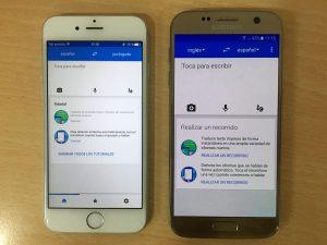 Google Translator está disponible para iOS y Android.