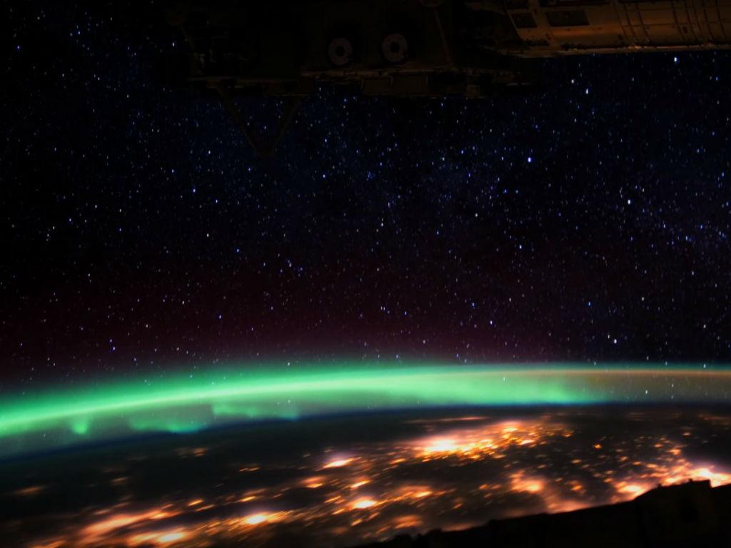 La Aurora Boreal se puede ver en alta resolución desde el espacio.