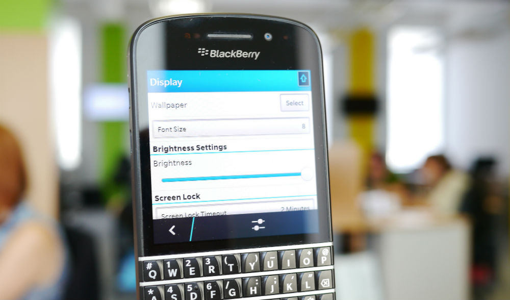 Actualmente BlackBerry tiene un peso de 0,1% en el mercado de teléfonos inteligentes.