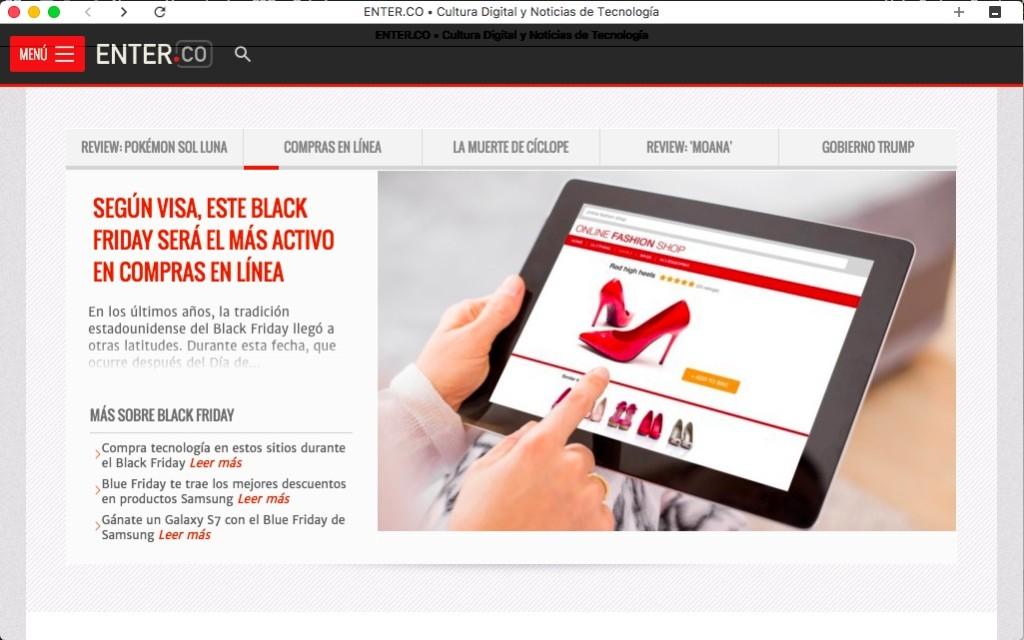 Colibri es un navegador web sin pestañas.