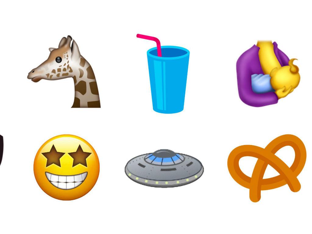 Pretzel, platillo volador, entre varios nuevos emojis.