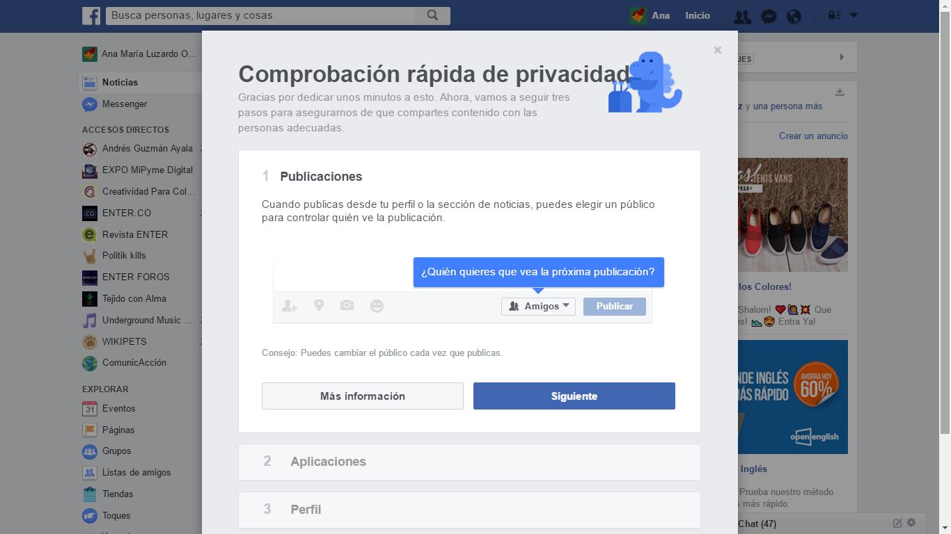 Comprobación rápida de privacidad