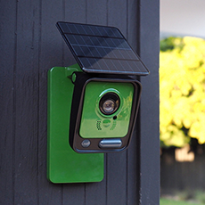 La cámara se alimenta por medio de paneles solares