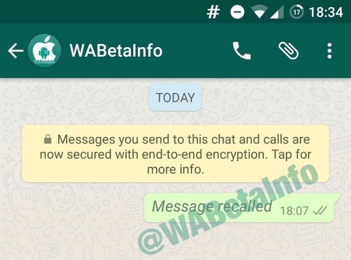 WhatsApp permitiría borrar los mensajes enviados en los dispositivos de los receptores.