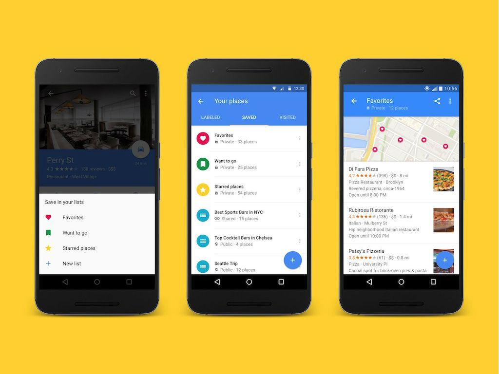 Las listas de Google Maps se podrán compartir con todos los contactos.