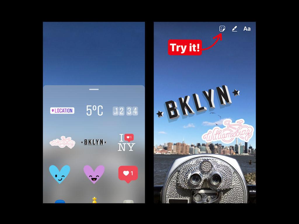 Ahora podrás poner stickers de acuerdo con tu ubicación en Instagram Stories.