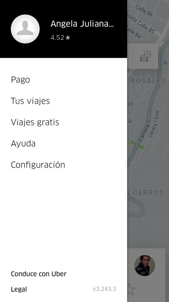 Uber Captura de pantalla