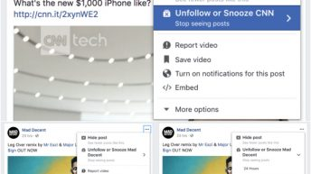 Silenciar publicaciones Facebook
