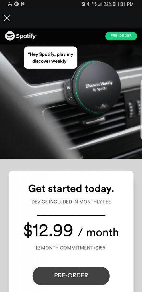 Spotify en automoviles