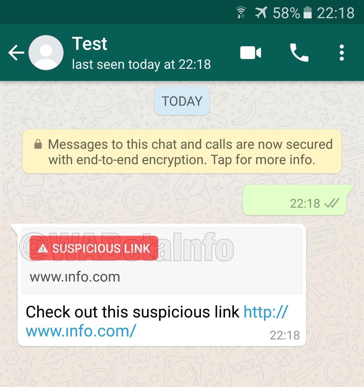 WhatsApp link sospechoso