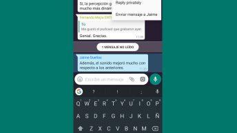 Responder en privado whatsapp