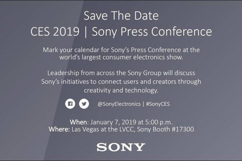 Invitacion Sony CES 2019