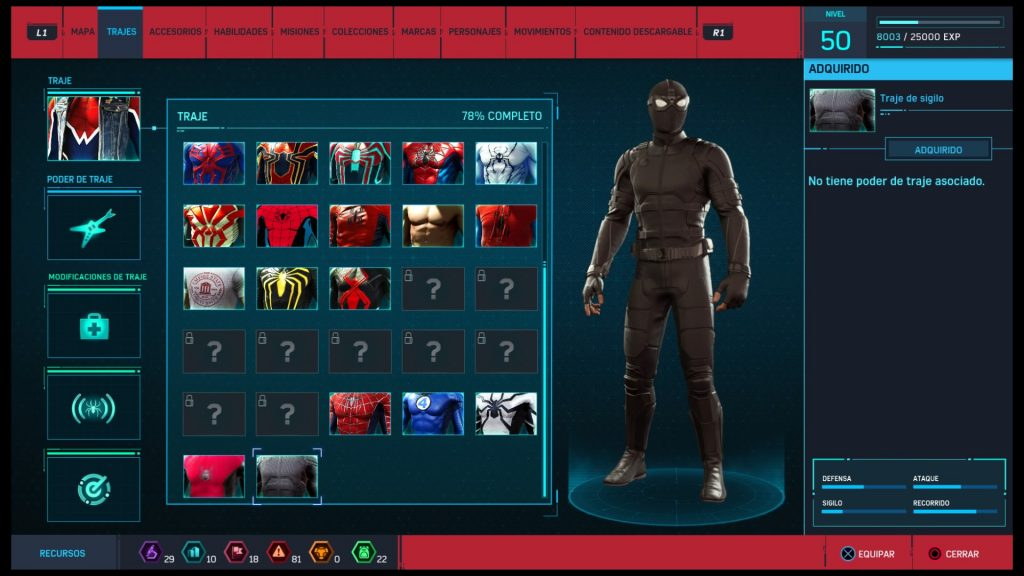 Trajes de Spider-Man