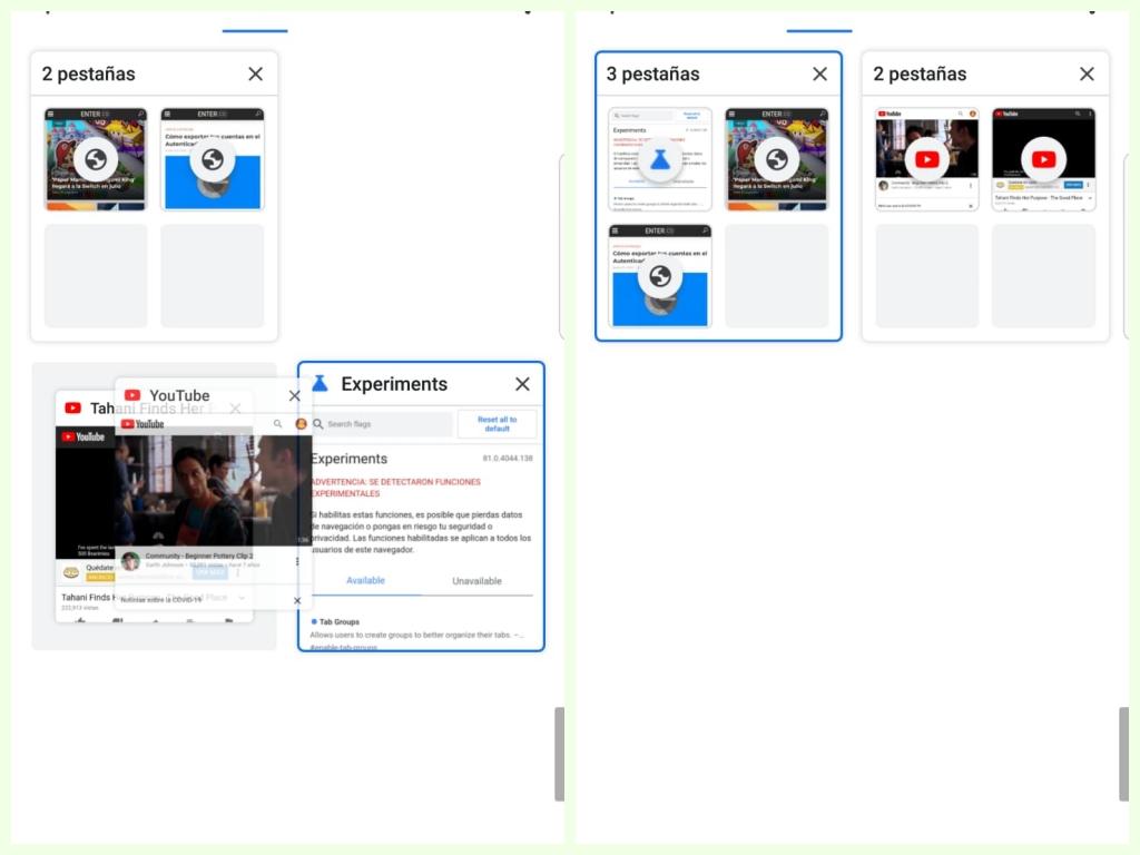 agrupar ventanas en Chrome