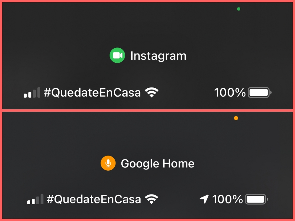 iOS 14 - punto de color
