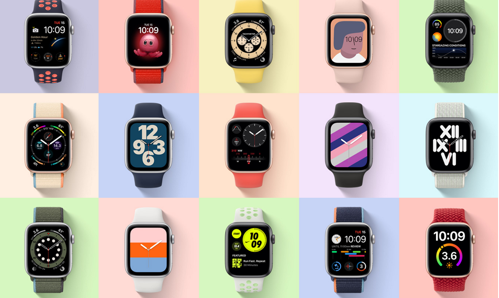 Rostros del Apple Watch SE